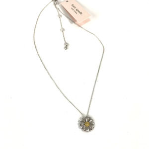 Kate Spade Silver Into The Bloom Flower Necklace